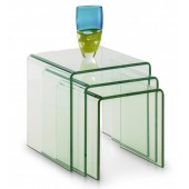 Giavelli Glass Nest of Tables