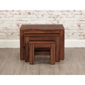 Mayan Walnut Nest of 3 Tables