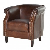 Mayfair Vintage Leather Armchair