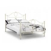 Parisienne White Metal Bed
