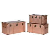 Set 3 Copper Trunks
