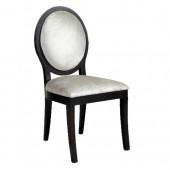 Silver Velvet Oval Back Chair