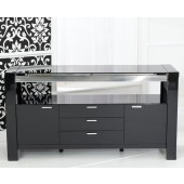 Sophia Black High Gloss Sideboard