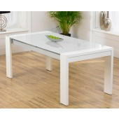 Sophia White High Gloss Dining Table
