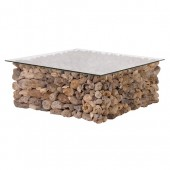 Square Driftwood Coffee Table - Large