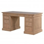 Villeneuve Weathered Oak Partners Desk Small