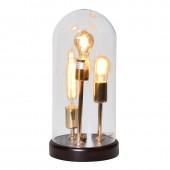 Vintage 3 Bulb Glass Dome Table Lamp