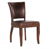 Vintage Leather & Jute Dining Chair