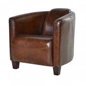 Vintage Leather Rocket Chair